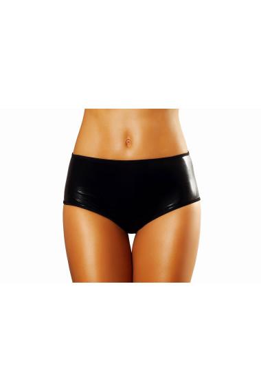 Figi sexy damskie czarne lateksowe  - Bizarre Shorts
